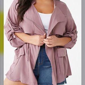 Plus Size Draped Jacket